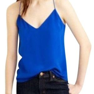 Staple J. Crew Silk Carrie Cami in Blue Grotto 8